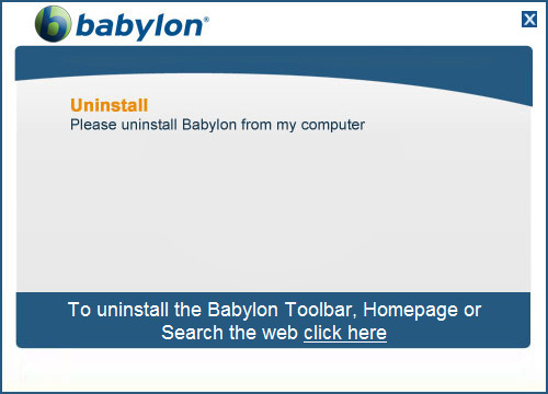 To remove Babylon from PC